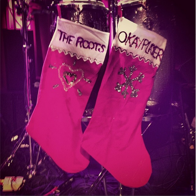 Stockings were hung on stage left with care at The Roots OKP Holiday Jam '13