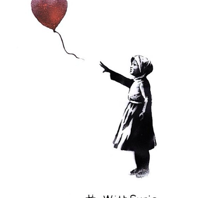 Visual Culture: Banksy + Idris Elba Collaborate On #WithSyria Campaign