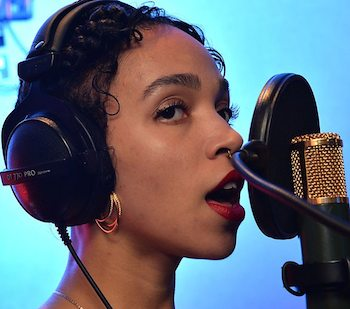 FKA Twigs Performs Live In Session At Maida Vale Studios With DJ Zane Lowe On BBC Radio 1.