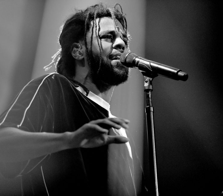 Rapper J. Cole performing at Staples Center