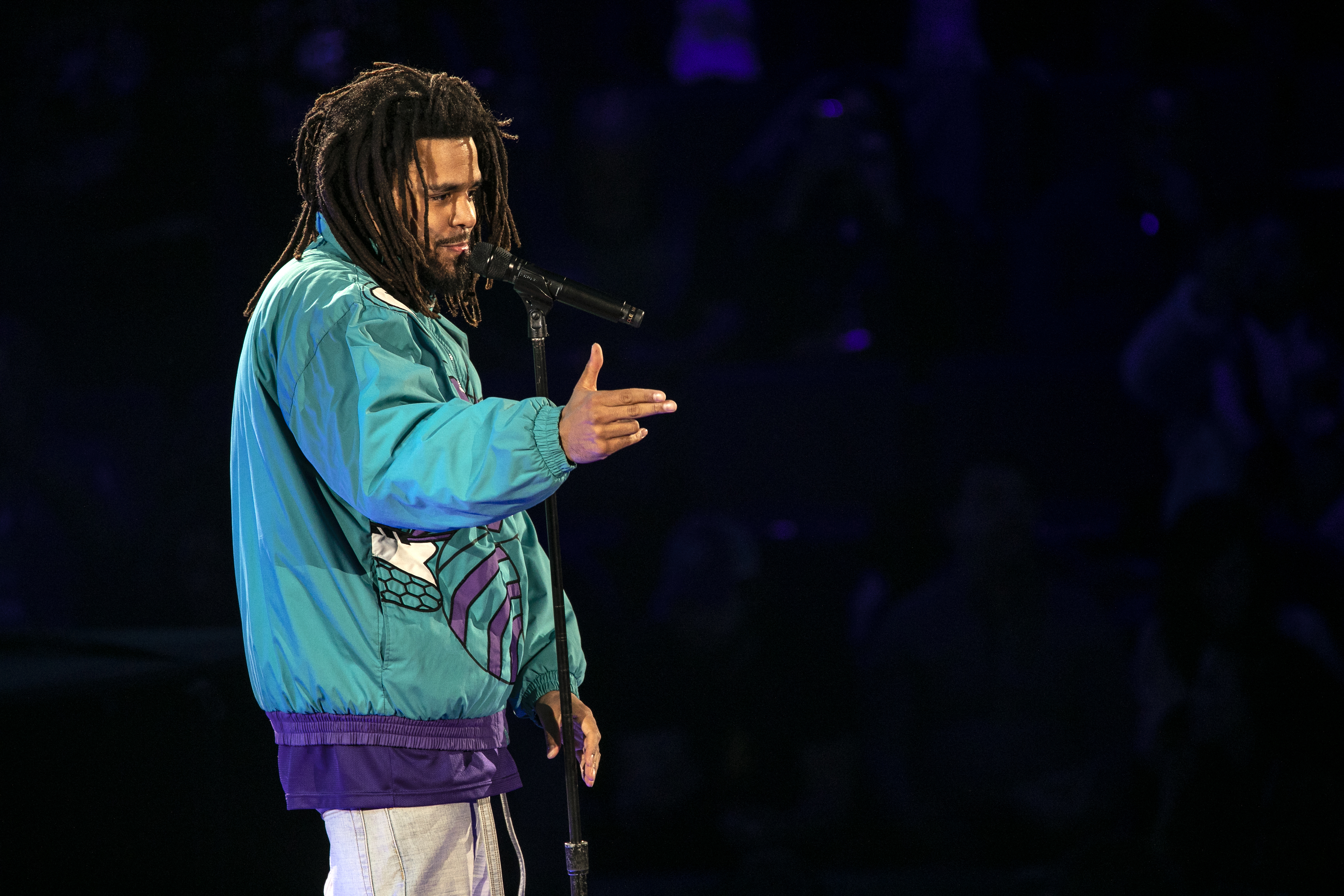 J. Cole Performs at the 2019 NBA All-Star Game