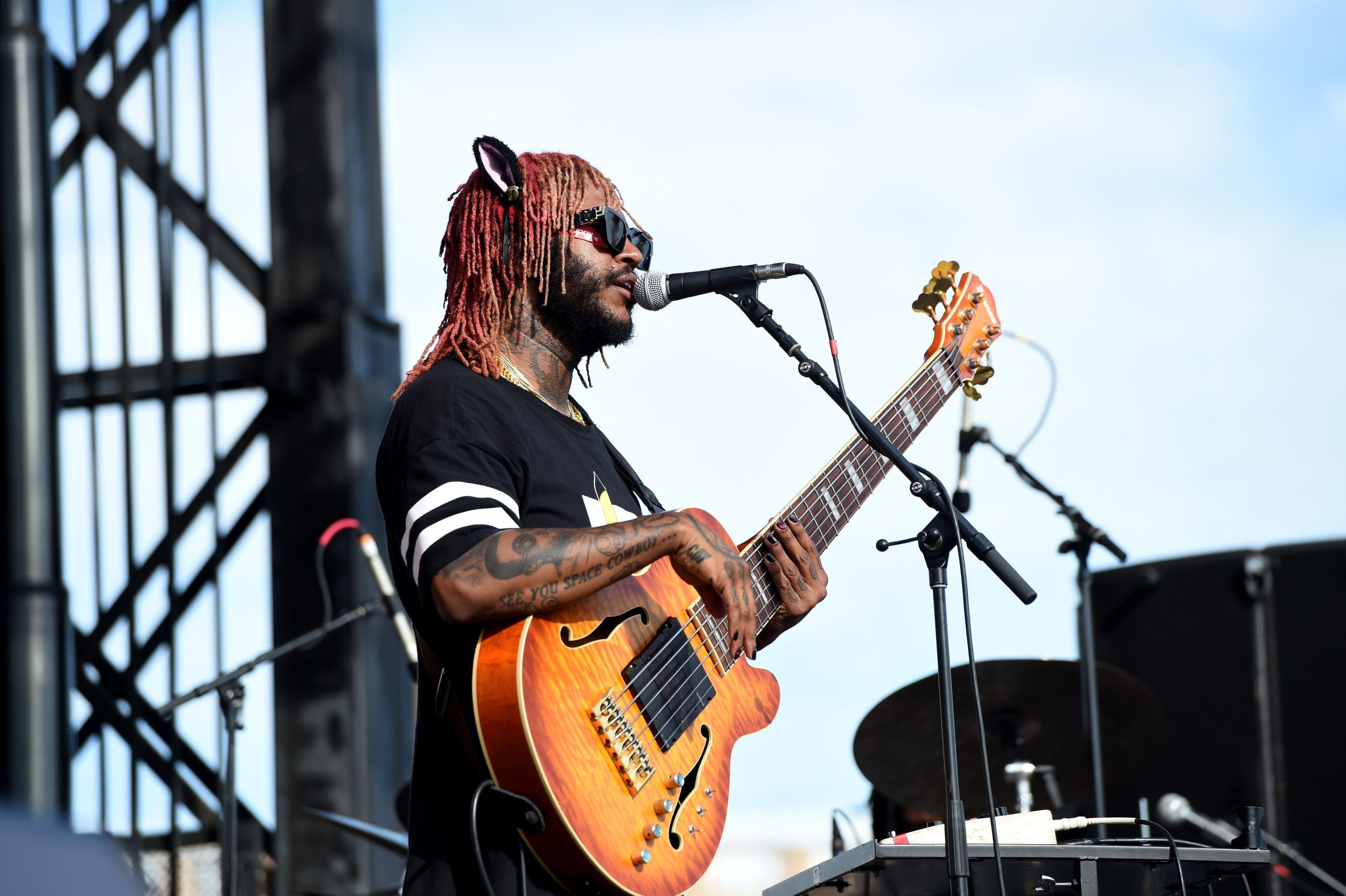 Thundercat performs at Dave Chappelle's Block Party