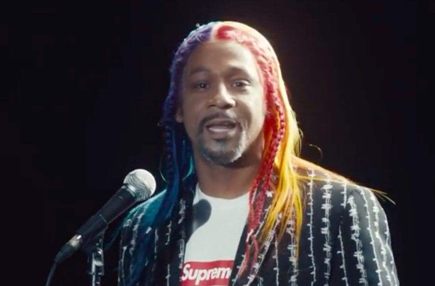 Katt Williams Dons 6ix9ine's Rainbow Hair, Blasts Trump in Deceptively Poignant Supreme Spot