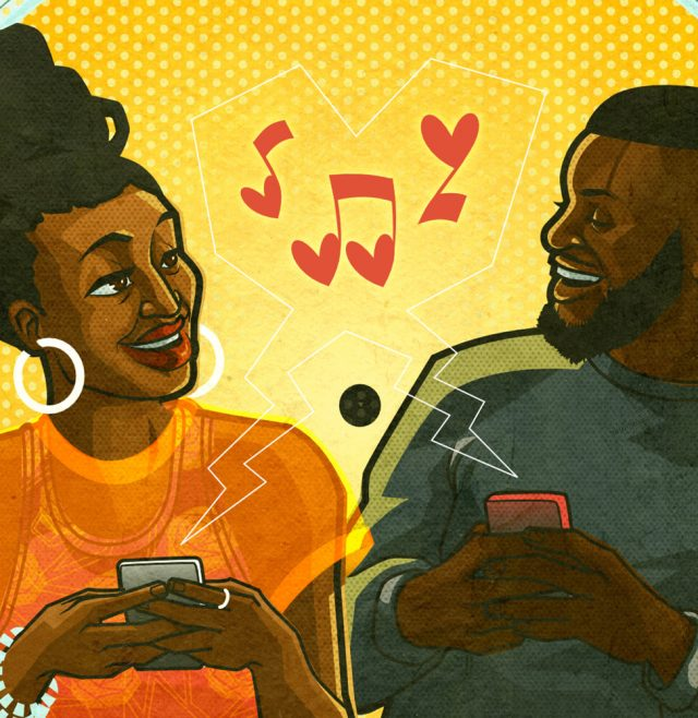 Two couples Vinylly dating app