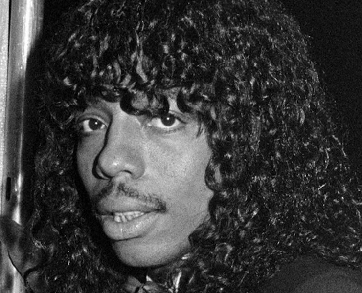 Black and white photo of Rick James from the trailer for the upcoming documentary 'Bitchin': The Sound and Fury of Rick James'