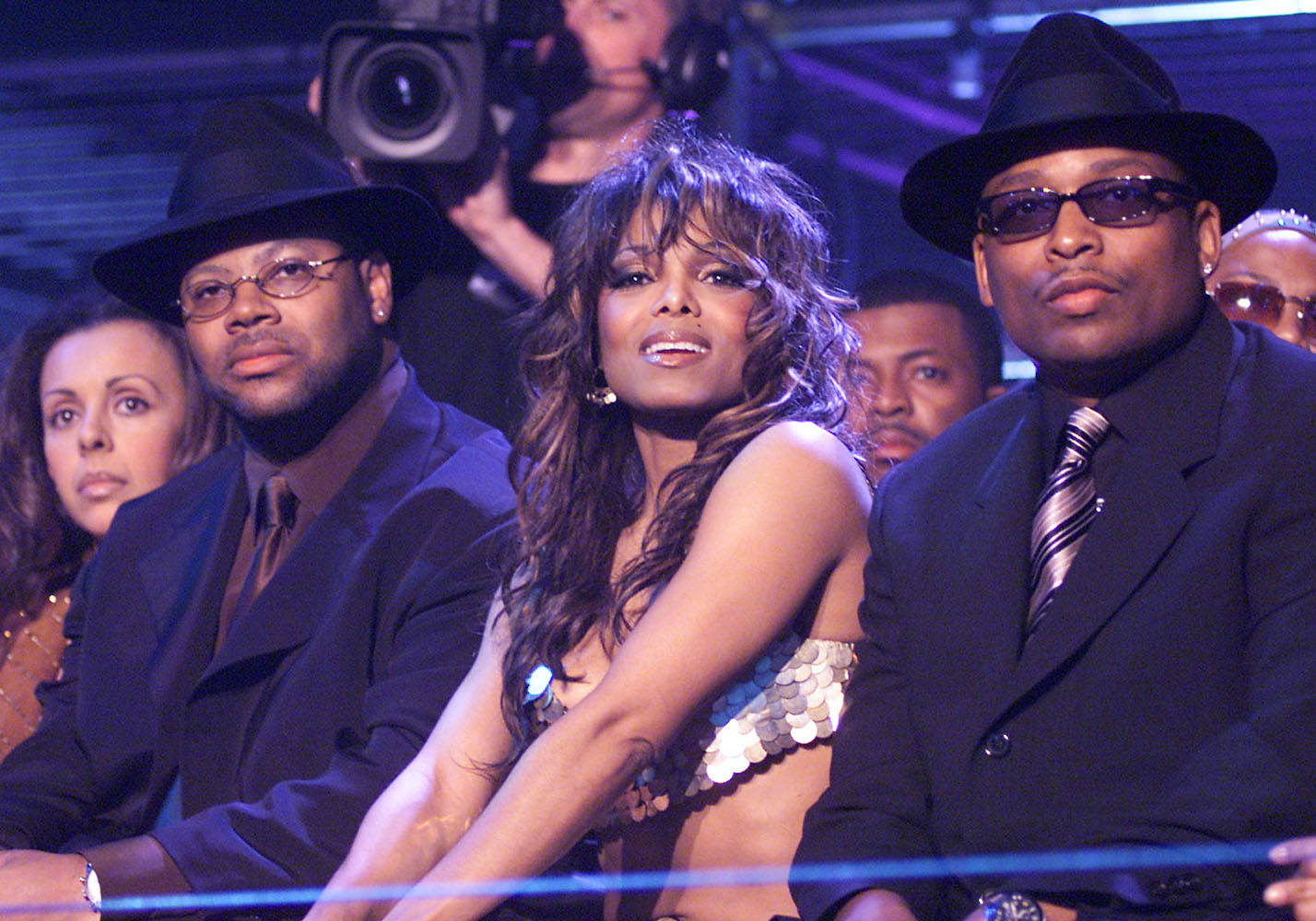 Janet Jackson with Jimmy Jam and Terry Lewis on the 'mtv ICON: Janet Jackson' show.